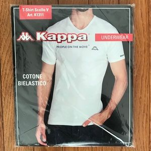 Gray Kappa T-shirt with Left chest Logo. SZ Large